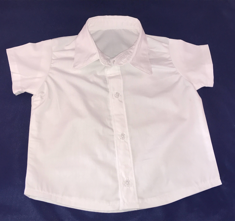 Baby Boy White Short Sleeve Dress Shirt