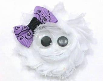 Ghost Hair Bow , Ghost Hair Clip , Halloween Hair Clip , Halloween Bow , Ghost Costume , Ghost Flower , Ghost Headband