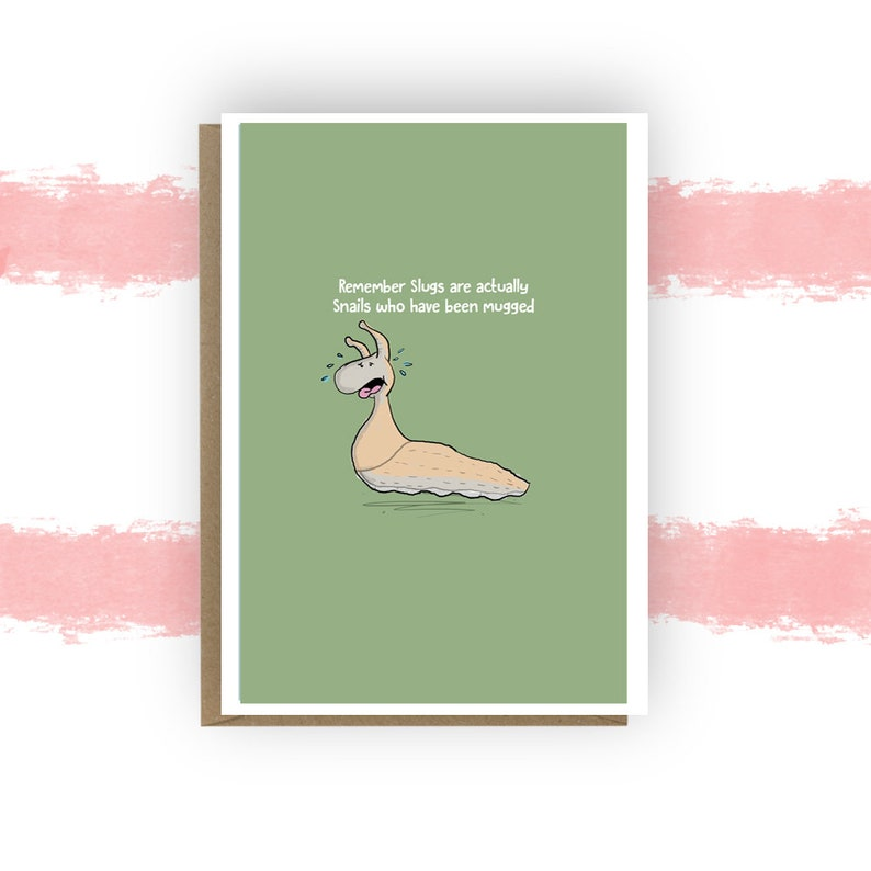 Slug Card Funny Birthday Gardening