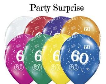60th Birthday Balloons Anniversary Party 60 Years Birthay Graduation Celebration Balloon Decorations