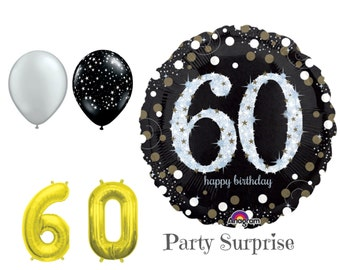 60th Birthday Balloon Package 60 Balloons Happy Years