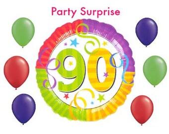 90th Birthday Balloons 90 Year Balloon Bouquet