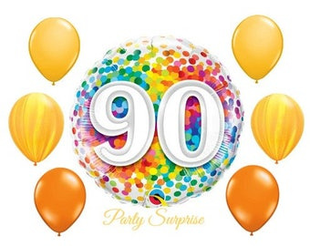 90th Birthday Balloon Package 90