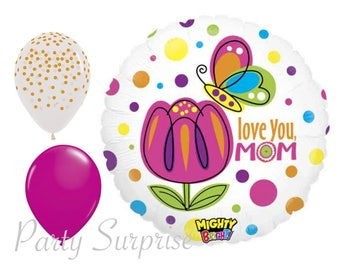 Mom Love You Balloon Package Mothers Day Birthday I Bouquet Mother Balloons