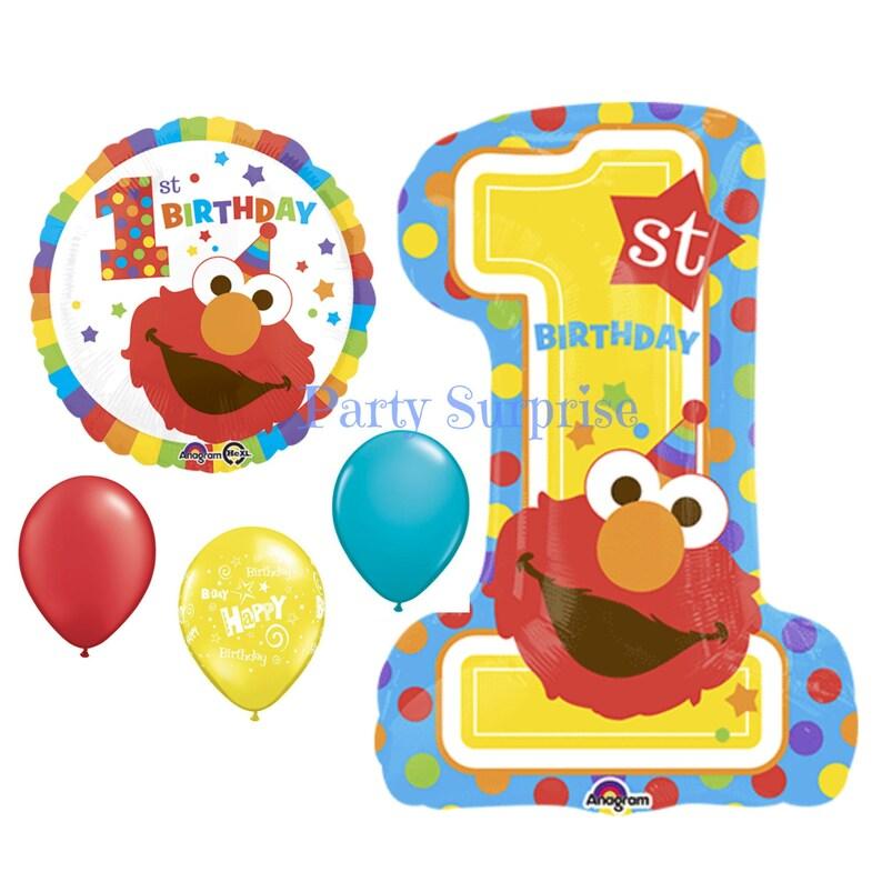 1st Birthday Balloons Sesame Street Elmo