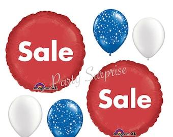 For Sale balloons Advertising Store Sale Balloons Shop Sale Balloons Red Sale balloons Craft Fair Artist Fair Bazaar Sale Balloons
