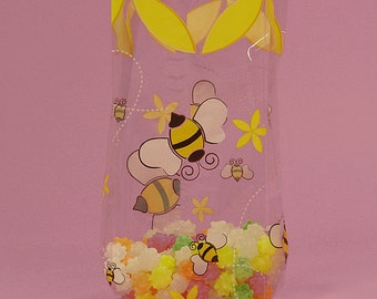 Bumblebee Cello Treat Bags, Who will You Bee?, Bumble Bee Party Bags, Bumblebee Favor Bags, Bumble Bee Favor Bags, Bee Mine,
