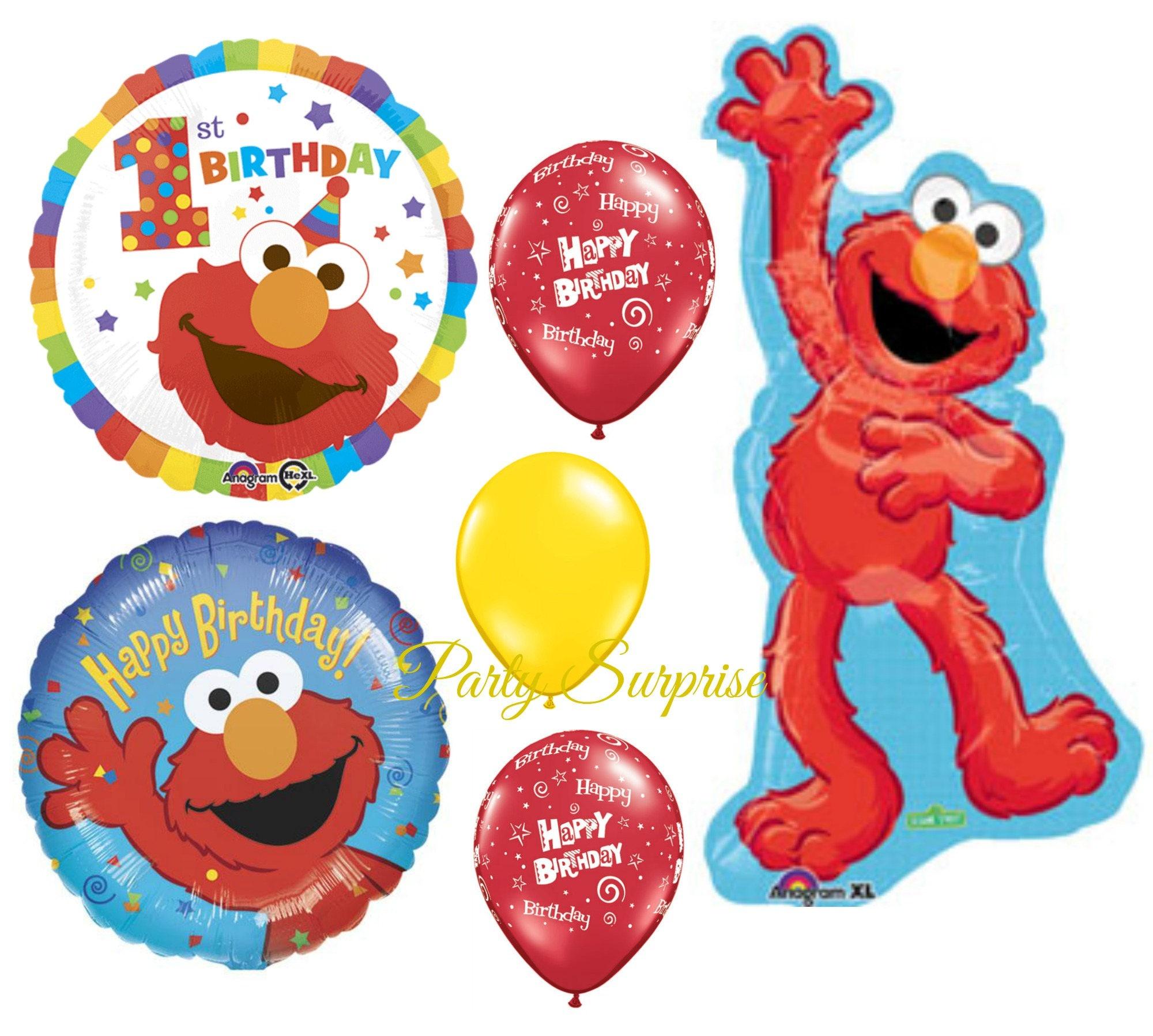 1st Birthday Elmo Sesame Street Balloon Package Happy