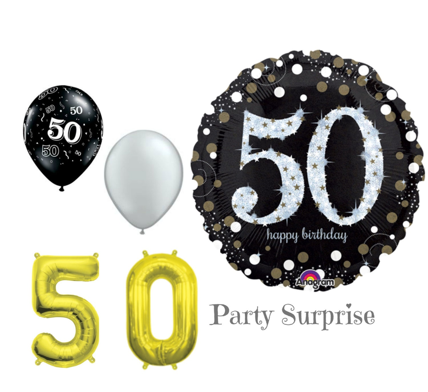 50th Birthday Balloons 50 Years Old Party Decorations