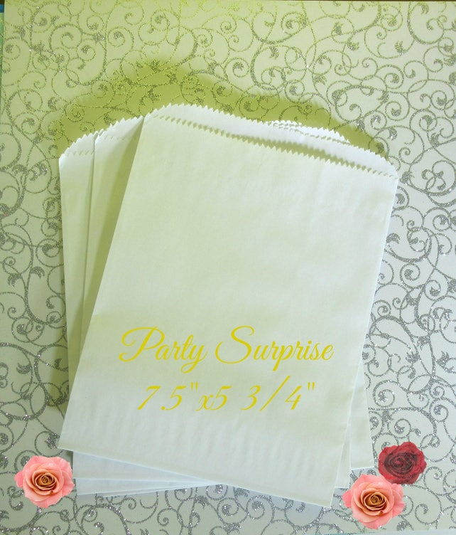 """White Treat Bags Wedding Favor Bags Food Treat Bags White Paper Bags 7.5""""x5 3/4"""" Solid White Bags Cookie Bags Pretzel Bags Candy Bags"""