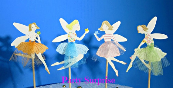 Fairy Cupcake Toppers Fairy Tale Party Decorations Cupcake  e9ef3670d978