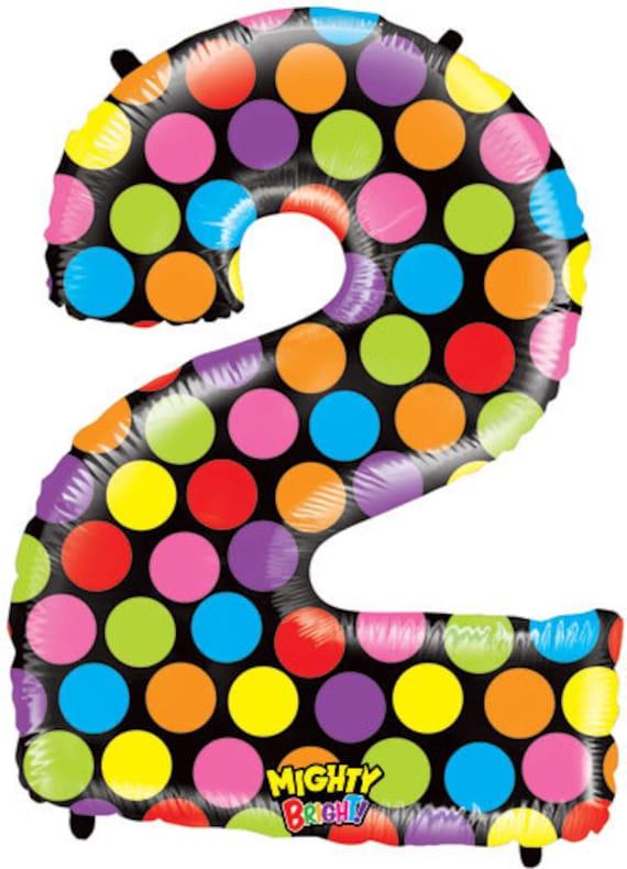 Number 2 Megaballoon 40 Big Polka Dots Years Old Birthday