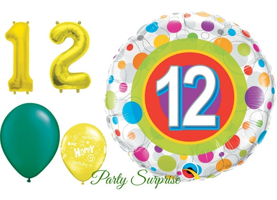 12th Birthday Balloon Pack Years 12 Year Old Party