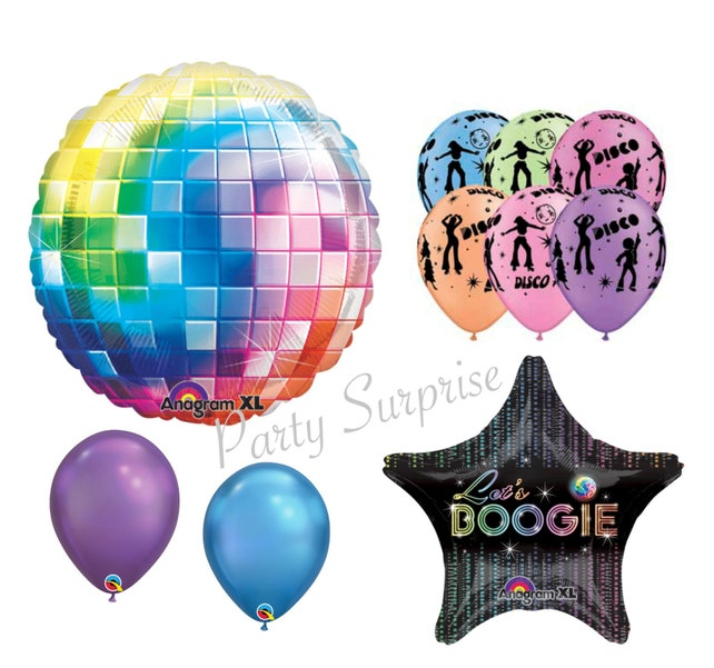 Disco Ball Disco Balloon Package Disco Party Decorations Rock N