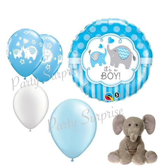 Baby Boy Elephant Balloons Boy Baby Shower Elephant Theme Etsy