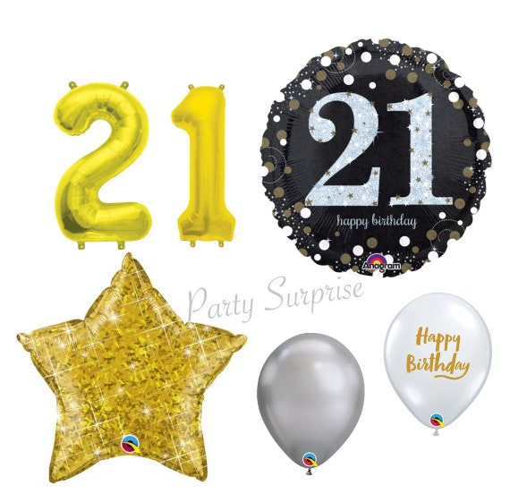 "Happy Birthday Party Gold Mix Sparkling Celebration Balloons 11/"" Latex"