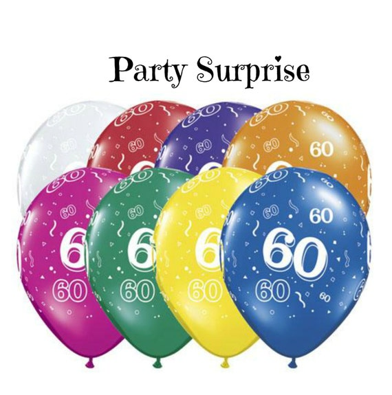 60th Birthday Balloons Anniversary Party 60