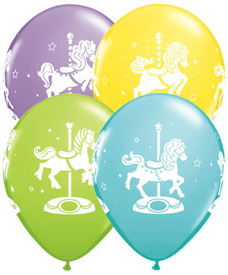 Rocking Horse Balloon Boy Baby Shower Rocking Horse Carousel Horse Balloon Package New Baby Boy Balloons