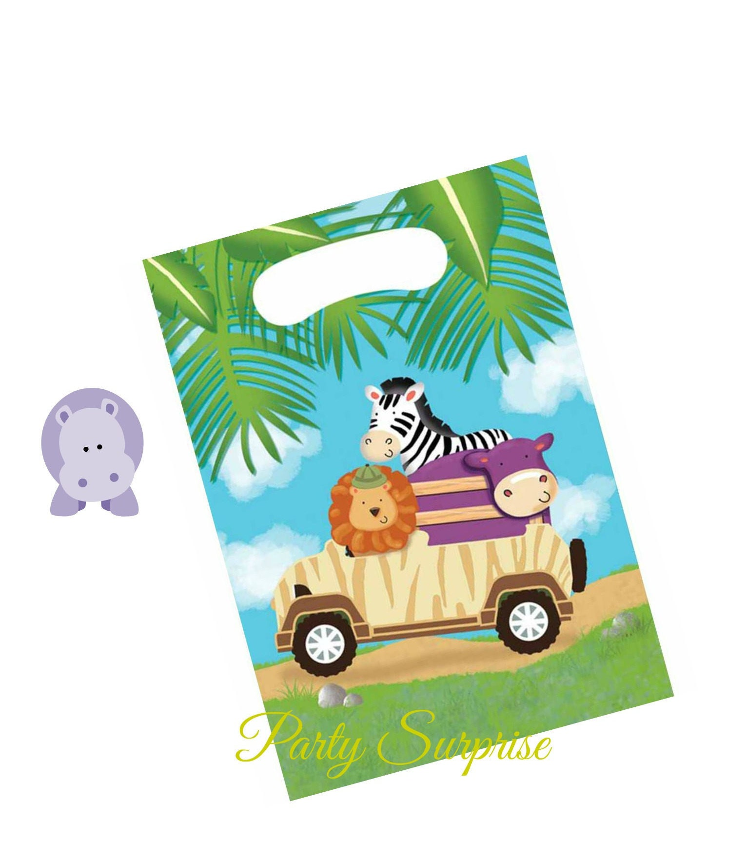 Safari Party Treat Bags Safari Favor Bags With Handles