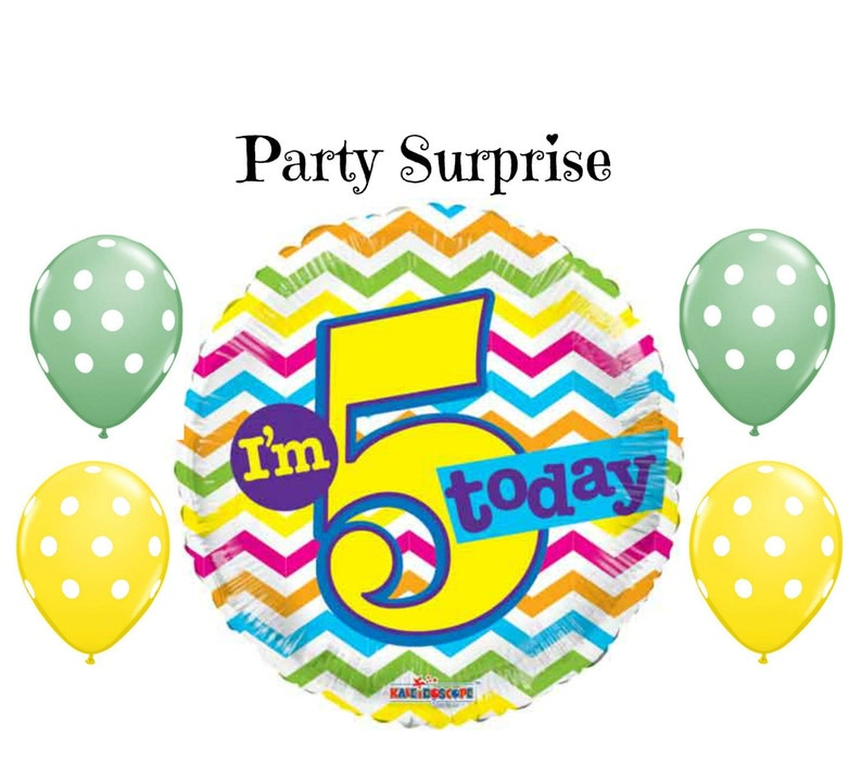 5 Year Old Birthday Balloons 5th Party