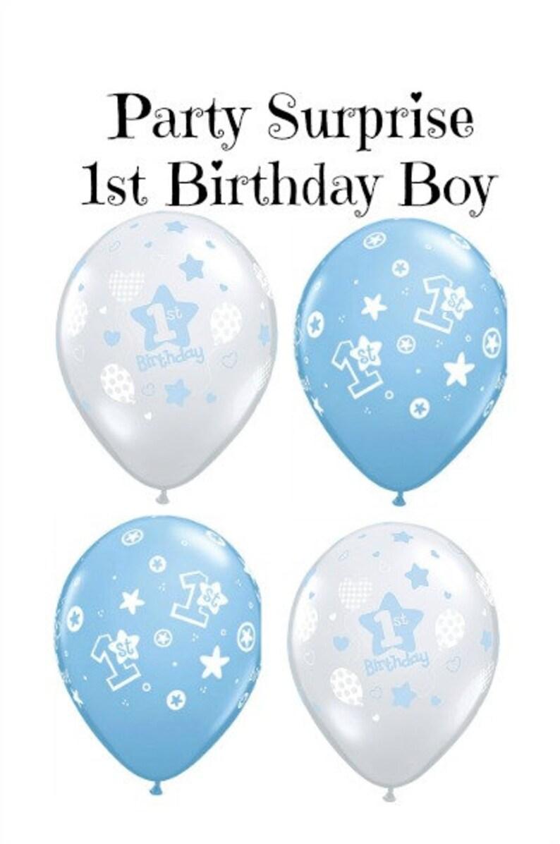 1st Birthday Boy Balloons Baby Party