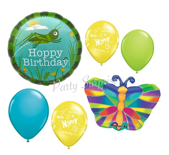 Bug Birthday Balloon Package Bug Party Balloons Butterfly