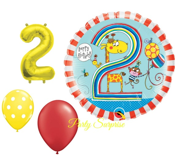 2nd Birthday Balloon Package Boy Or Girl 2 Years Old Birthday