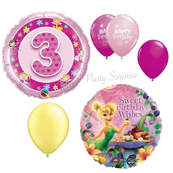 3rd Birthday Girl Balloons Girl 3 Years Old Birthday Party Fairy