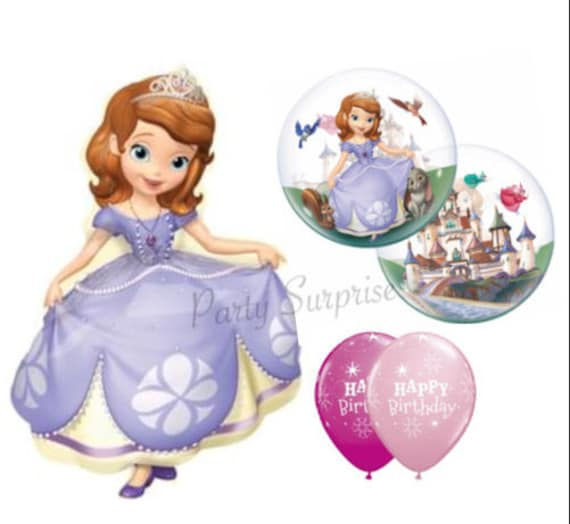 Sofia The First Jumbo Mylar Balloon Package 35 Happy Birthday Balloons Select Your Party Girl
