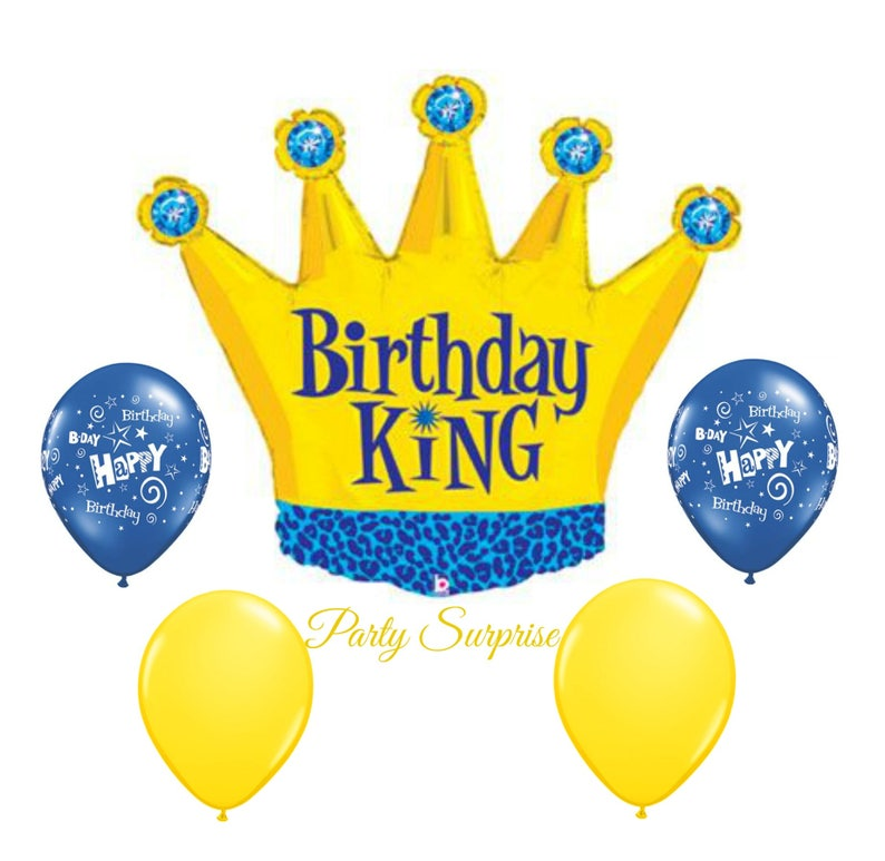 Birthday Crown Balloon Jumbo King Package