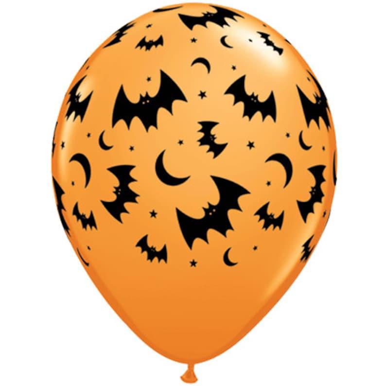 Bats Moons Black Orange Balloons Halloween Party Decoration Balloons Halloween Balloons Gold BOO Balloons