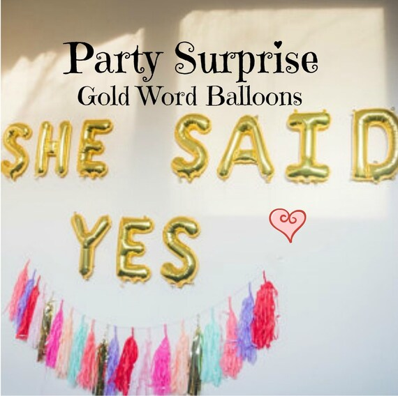 Gold Letter Balloons Air Filled Love Happy Birthday XOXO Baby I You New Year Wedding Congratulations Mr Mrs Oh Marry Me