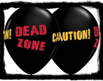 Zombie Balloons Danger Zone Great Prices Quality and Service,Zombie Party Balloons,Scary Party Balloons,Boy's Party Balloons,Black Zombie