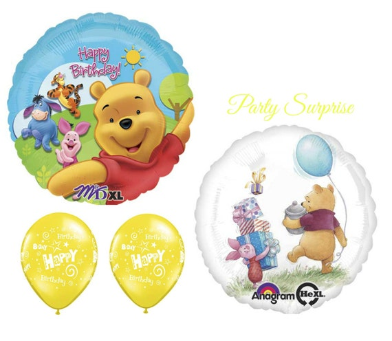 Winnie The Pooh Birthday Balloons Girl Birthday Boy Birthday