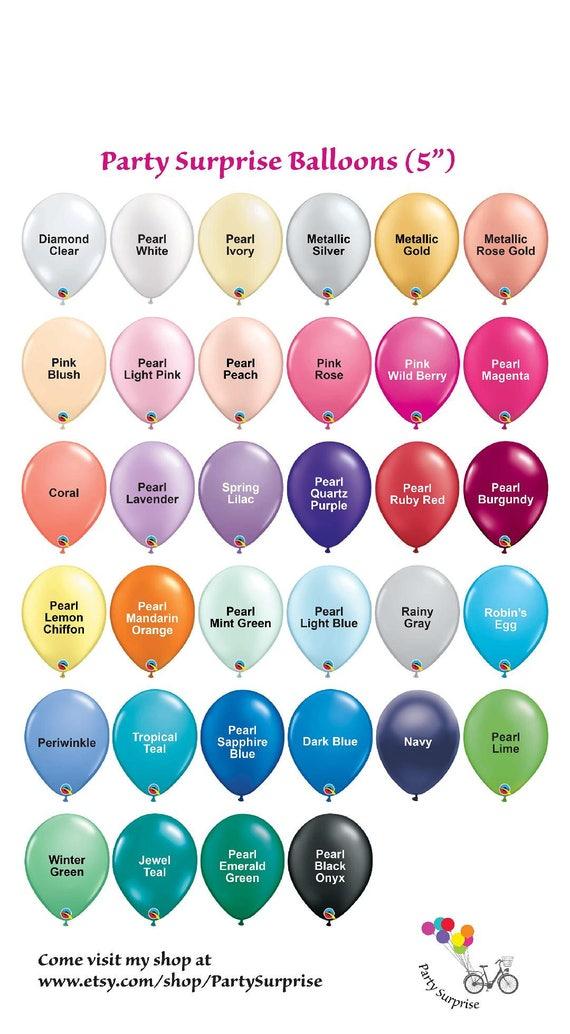 Mini Balloons 5 Small Air Filled Balloons Samples Color Chart