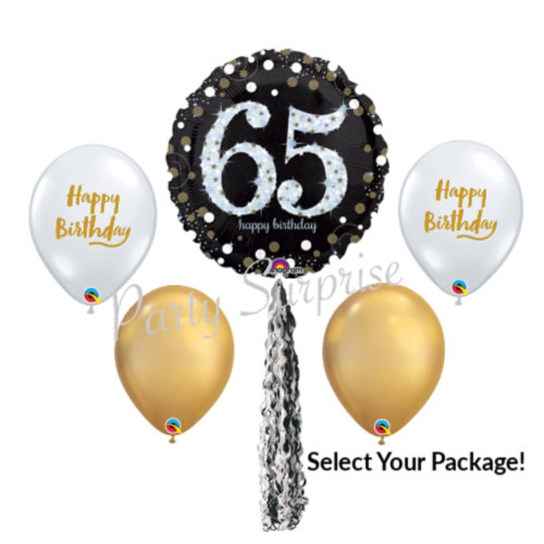 65th Birthday Balloon Package Happy Balloons Diamond