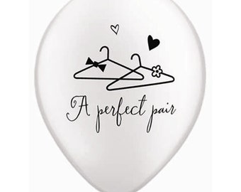 Wedding Engagement Balloons A Perfect Pair Bridal Shower Bachelor Party Wedding Reception Engagement Party Anniversary Party Balloons