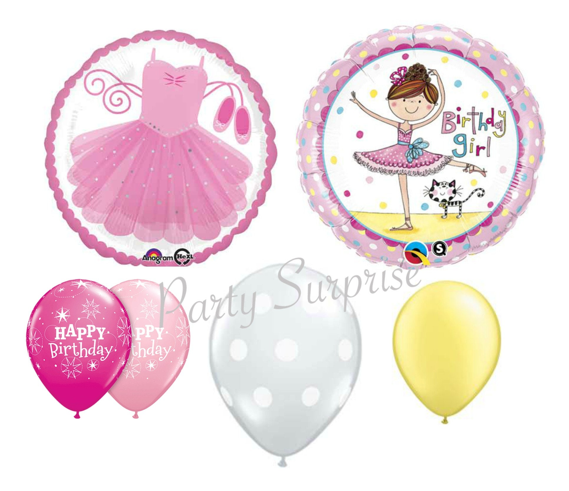 Ballerina Birthday Balloon Package Girl Birthday Balloons | Etsy