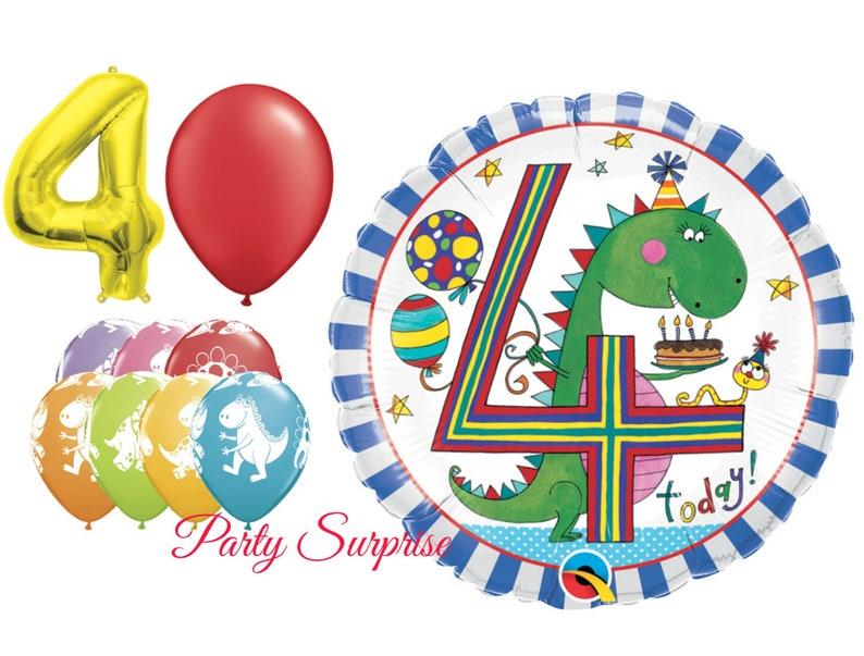 4th Birthday Balloon Cake Topper Girl Boy