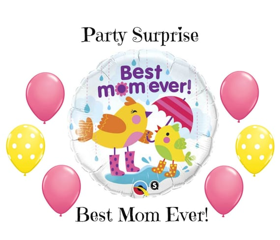 Best Mom Ever Balloons Mothers Day Grandma Birthday Kids For