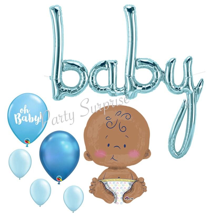 Baby Boy Balloon Package Mylar Foil Jumbo Blue Baby Boy Shower New Baby Boy Balloon Bouquet Jumbo Baby boy Star