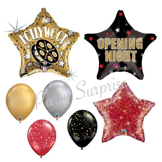 "20 x Hollywood Stars Silver Qualatex 11/"" Latex Balloons"