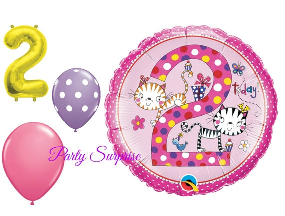 2nd Birthday Balloon Package Girl 2 Years Old Birthday