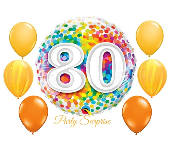 80th Birthday Balloons 80 Party
