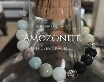 Amozonite Aromatherapy/Diffuser Bracelets {Adult Small, Size 7}