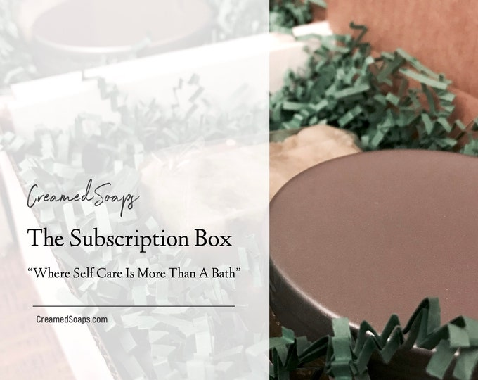 Featured listing image: Subscription Box; Womens Subscription Box; Self Care Subscription Box; Gift Set Subscription; Self Care Gift Box; Monthly Soap Box
