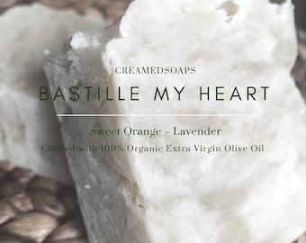 Sweet Orange & Lavender - Olive Oil/Vegan Hot Process Soap