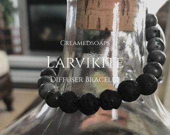 Larvikite Aromatherapy/Diffuser Bracelet {Adult Small, Size7}