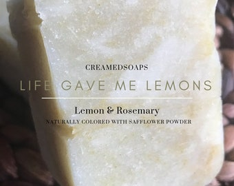 Lemon & Rosemary Soap; Shea Butter Soap; Eczema Soap; Hot Process Soap