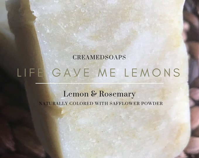 Featured listing image: Lemon & Rosemary Soap; Shea Butter Soap; Eczema Soap; Hot Process Soap